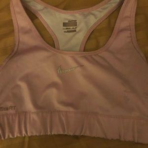 Pink Nike Pro sports bra